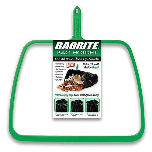 Bagrite - Trash Bag Holder - Holds 30 to 60 Gallon Plastic Trash Bags