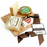 KaBloom Gift Basket Collection: The Honeycomb Cheese Board Gift Set of Gourmet Cheese, Raw Honey Comb, Bamboo Cheese Board and Cheese Cutting Knife