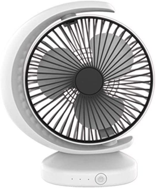 Outdoor Travel Office USB Fans Mini Fan Student Cute Handheld Fan Desktop Bedside Office Portable Electric Fan for Home Color : White