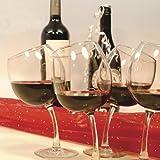 Tipsy Wine Glasses 12 oz. Goblets with Slightly Bent Stems (Set of 4)