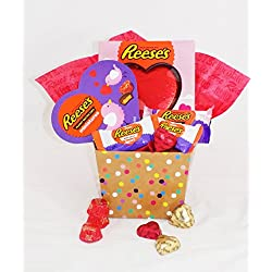 Valentine's Day Reese's Peanut Butter and Chocolate Gift Basket