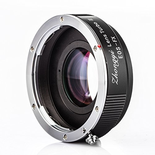 ZHONGYI Turbo II Focal Reduce Light Intensify Lens Adapter Suitable for Canon EOS Lenses for Camera Fuji FX Pro1 X-E1 X-E2 X-M1 X-A2 X-A1 - Lens Turbo