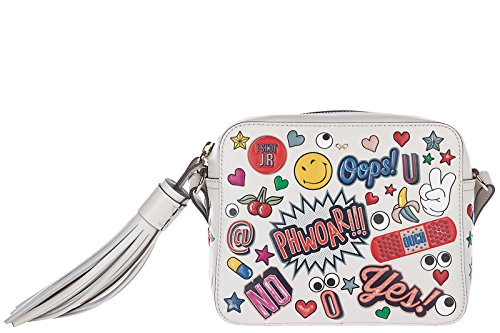 Anya Hindmarch women's leather cross-body messenger shoulder bag white