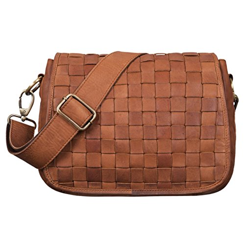 Shoulder Bag Hand Brown Body Girona Small Colour Braided in Leather Party Leather Cross Freetime Vintage Brown 'Mia' for Women STILORD Bag Genuine girona for Shopping Bag Ladies xO87qI4wS