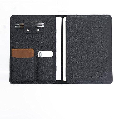 Black Leather Handmade Portfolio, Leather Organizer, Leather Document Holder, Black Leather Document Holder,Handmade Business Leather Folder