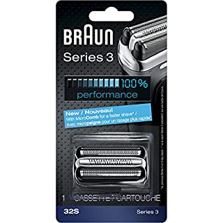 Braun Series 3 32S Foil & Cutter Replacement Head, Compatible with Models 3000s, 3010s, 3040s, 3050cc, 3070cc, 3080s, 3090cc (B0041HTTA0) | Amazon price tracker / tracking, Amazon price history charts, Amazon price watches, Amazon price drop alerts
