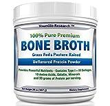 Bone Broth Protein Powder from Grass Fed Beef – 20oz – High in Collagen & Gelatin – Paleo & Keto Friendly – Unflavored (1 Pack)
