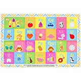 60 Pack - Disposable Placemats - Children's ABC Topper for Table