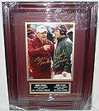 Bobby Bowden & Jimbo Fisher Hand Signed Autographed Florida State Seminoles 8 x 10 Photo - Custom Framed