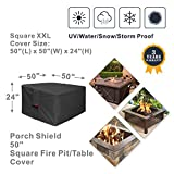 Porch Shield Fire Pit Cover - Waterproof 600D Heavy