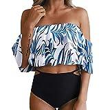 Swimwear Cover ups for Women Bikinis Swimdress Jiayit Womens Hight Waist Printed Off Shoulder Cutout Bikini Set Tankini Monokinis Push-Up Padded Bathing Swimwear Swimsuit
