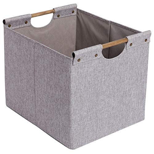 CAMEL CROWN Collapsible Storage Basket Organizer Bins Handles Box Accessories Laundry Cube for Home Office Nursery Kids ()