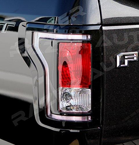 2016 F150 Tail Lights >> Amazon Com Razer Auto Gloss Black Taillight Trim Bezel Cover For