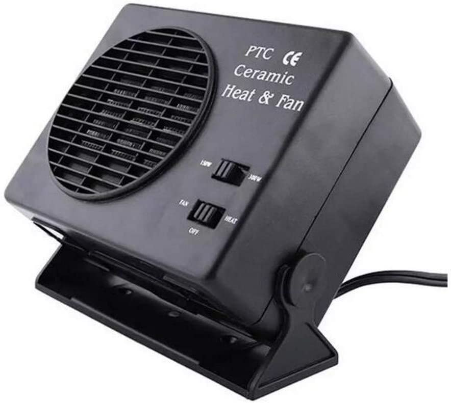 150W 12V Car Fan Heater Switch Ceramic Heating Warmer Defroster Demister New Car Electrical Heating Fans Instant Heating