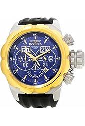 Invicta Men's Russian Diver Black Silicone Band Steel Case Quartz Blue Dial Analog Watch 21630