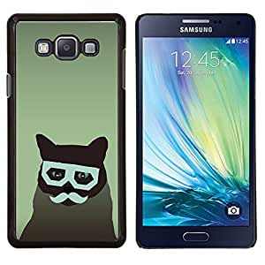 - GLASSES FELINE CAT MOUSTACHE HIPSTER ART - Caja del tel¨¦fono delgado Guardia Armor- For Samsung Galaxy A7 Devil Case