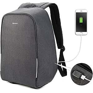 Kopack - Mochila antirrobo para Ordenador portátil con Puerto de Carga USB, Mochila de Viaje
