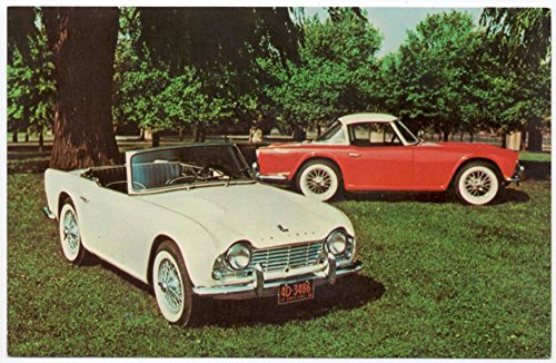 Postcard The Triumph TR-4 Convertible Hard-Top Coupe~107858