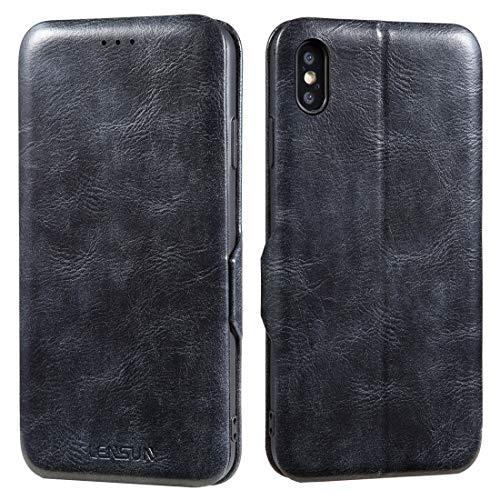 官僚田舎者適合iPhone XS Max ケース 手帳型 薄型 アイフォン XS Max ケース 手帳型 マグネット qi対応 カード収納 シンプル 軽量