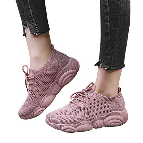 Casual Running Pink Ginnastica Mesh Morbide Ladies Outdoor Incrociate Popolari Da Donna commerce Comode Suola Sport B Orso Shoes Scarpe Cartoon Piatta Estate EB7gq