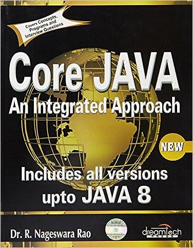 Core JAVA : An Integrated Approach 1 Edition price comparison at Flipkart, Amazon, Crossword, Uread, Bookadda, Landmark, Homeshop18