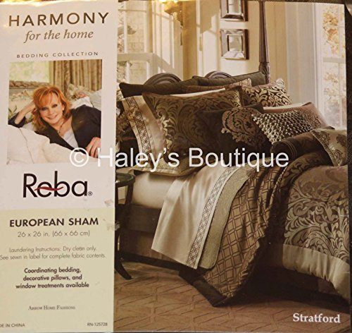 Reba Stratford Bedding Collection European Sham Dark Brown R