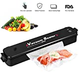 2-in-1 Vacuum Sealer Machine, Automatic Vacuum Air Sealing System for Food Preservation, for Vacuum and Seal/Seal, Led Indicator Lights (Red/Green), Including 20pcs Sealer Bags, Black