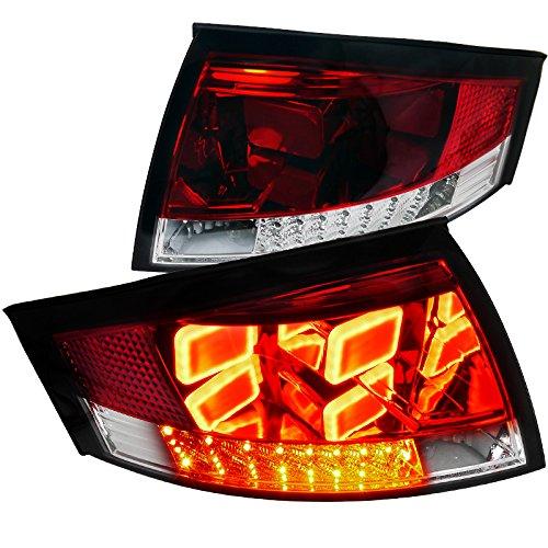 Spec-D Tuning LT-TT99RLED-V2-APC New Type Red Led Tail Brake Signal Lights Lamps For Audi Tt Quattro