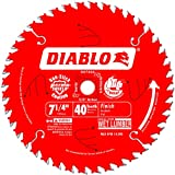 Freud D0740X Diablo 7-1/4 40 Tooth ATB Finishing Saw Blade with 5/8-Inch Arbor, Diamond Knockout and PermaShield Coating