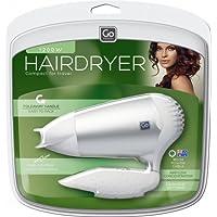 Go-Travel Travel Hairdryer, White, 992