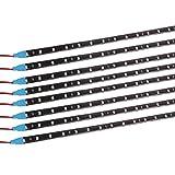 #4: Yolu 8pcs 60cm LED Strip Lights Kits 30SMD 1210 LED Tape Light for Neon Underglow Underbody, High Intensity Undercar Strip Lighting, LED Rock Lights, Motorcycle LED Light Kit Strips