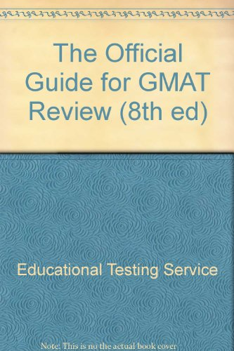 The Official Guide for Gmat Review (8th ed)