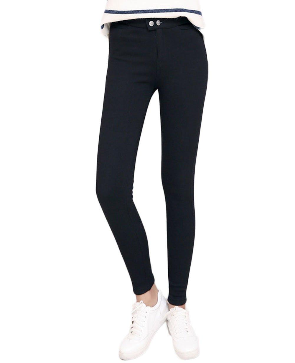 LANBAOSI Women's Slim Fit Pencil Pants Elastic Waist Jeggings Tights Leggings