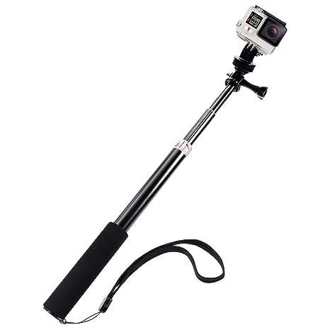 Rovtop Palo Selfie Gopro Selfie Stick Monopod de Extensión Ajustable para Todos los Modelos Camara Deportiva