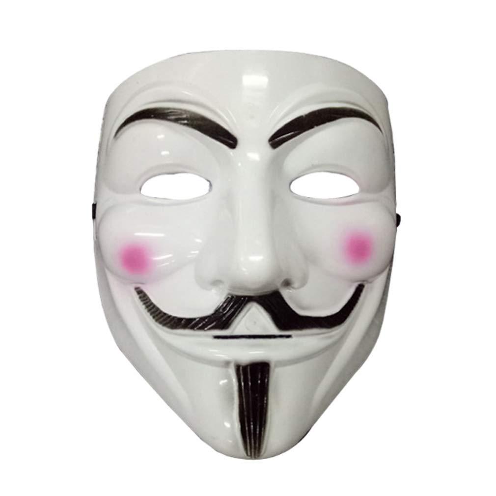 Bongles Mascherine del Partito V per la Mascherina di faida Maschera di Protezione del Fronte Pieno Anonymous Guy Fawkes di Travestimento di Halloween Party Viso