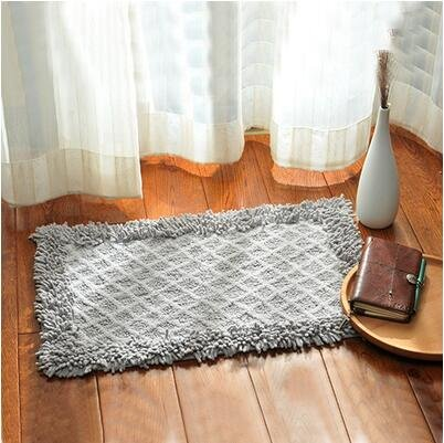 Cotton bathroom water-absorbing mats household mats non-slip door mat bathroom mat -5080cm j by ZYZX