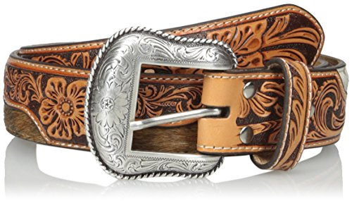 Nocona Belt Co. Men's Hide Middle Floral Tool, Natural, 40