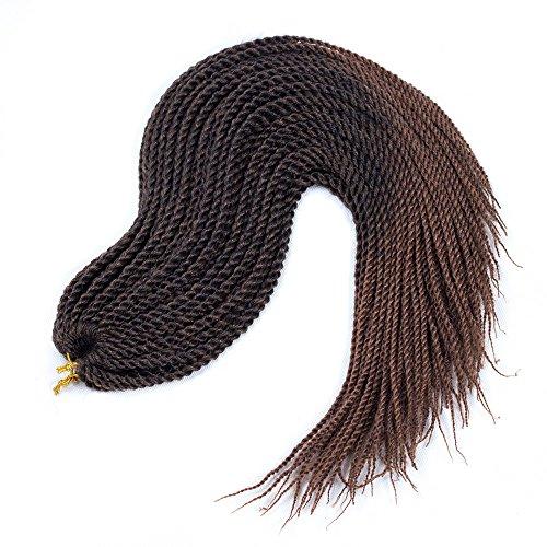 Ombre Senegalese Twist Crochet Hair 22inch 3packs Small Twist Braids Synthetic Crochet Braiding Hair Extensions (Best Braid Pattern For Crochet Braids)
