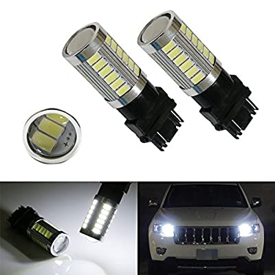 iJDMTOY (2) HID Matching 6000K White 33-SMD 3157 3357 3457 4114 LED Bulbs For Daytime Running Lights, DRL For 2011 and up Jeep Grand Cherokee