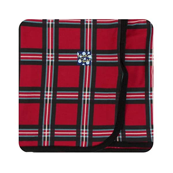 KicKee Pants Print Swaddling Blanket (One Size, Christmas Plaid 2019)