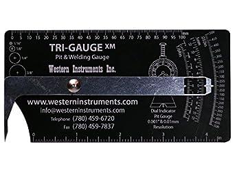 Western Instruments Tri-Gauge Pit Gauges: Depth Gauges