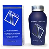 Infinity Hair Building Fibers for Thinning Hair - Hair Loss Concealer, Grey, 30g