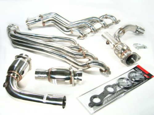 (OBX Catted Exhaust Header Manifold 06-09 Chevy Trailblazer SS V8 6.0L CAT)