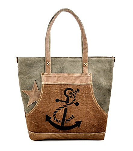 Daphne Shoulder bag Trims Shopper Travel Women Hobo for Canvas Girls Purse Work Tote Dreamers Leather Anchor by 4g5fPwxw6q