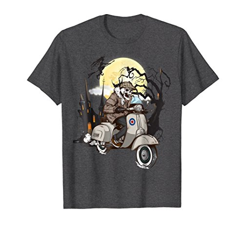 Mens Scooter Biker Halloween Costume Ideas T-shirt XL Dark Heather