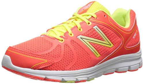New Balance Women's W690V3 Running Shoe,Orange/White,8 B US