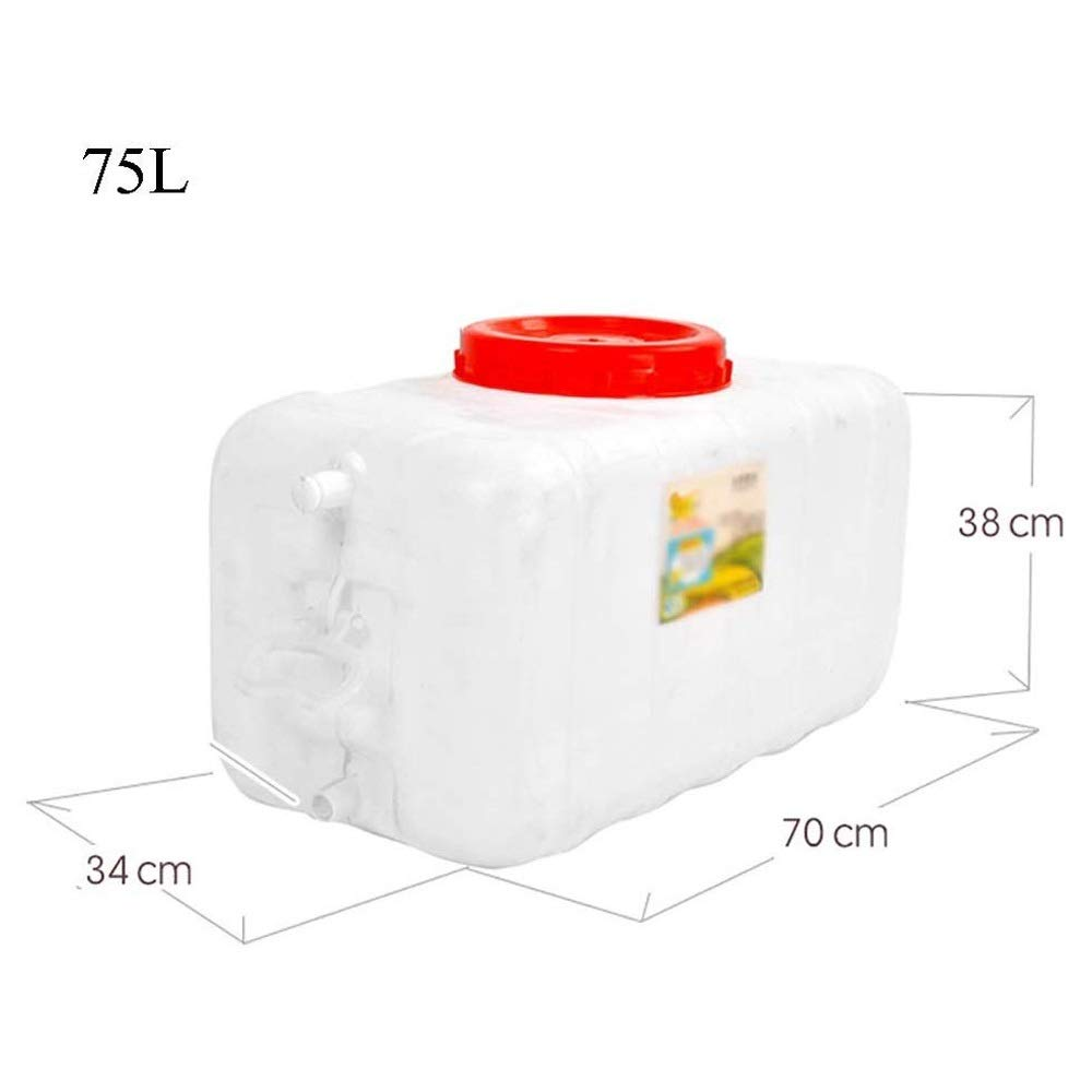 Size : 25L NO BRAND Q-L Tanque colector de Agua de Lluvia con ba/ñera Recipiente de Agua del Grifo Portable al Aire Libre pl/ástico Grueso