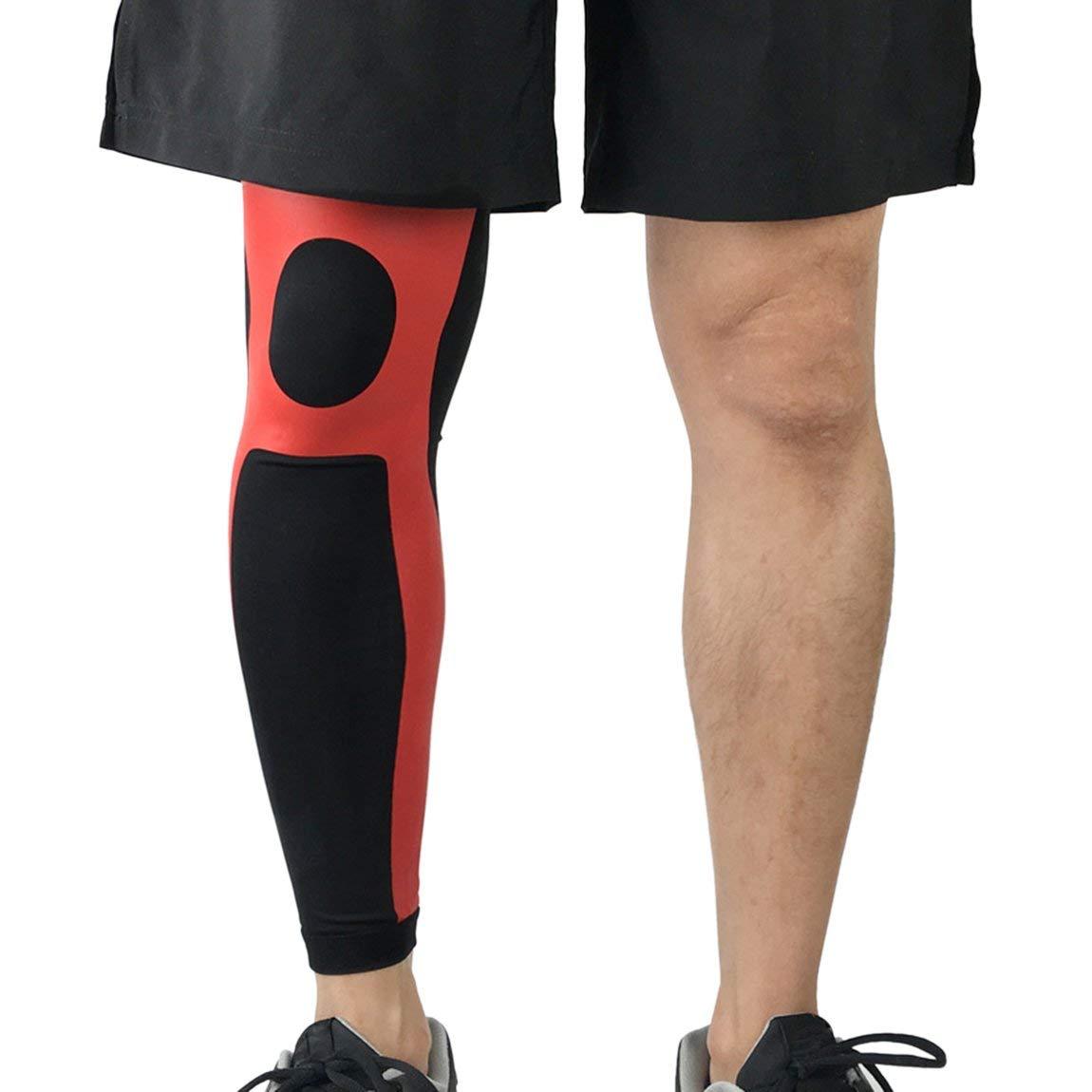 Amazon.com : SeniorMar 1 PC Basketball Football Leg Shin Guards Soccer Protective Calf Sleeves Cycling Running Fitness Calcetines Sports Kneepad - Black ...
