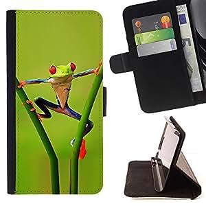 Momo Phone Case / Flip Funda de Cuero Case Cover - Divertido Acrobacia selva Rana - LG G3