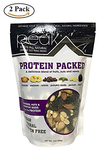 Protein Packed 100% All Natural On The Go Trail Mixes , Natural , Vegan , Gluten Free Mix Nuts.(Pack of 2) Review